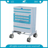 AG-WNT001 Nurse working movable plastic material instrument trolley