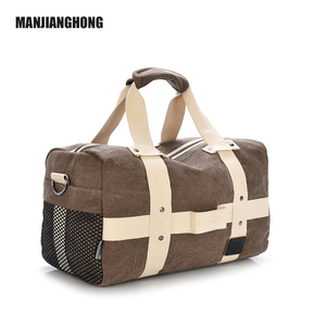 Foldable Travel Duffel Bag Canvas Weekend Bag Overnight