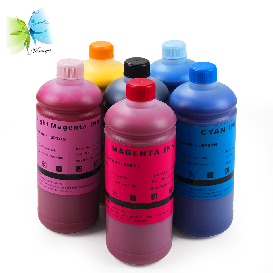 6 Colors Art Paper Ink Pigment For Epson L1800 L300 L800 Ll801 L805 L1800  Inkjet Digital Printing Inks - Buy L1800 Art Paper Ink,L300 Art Paper