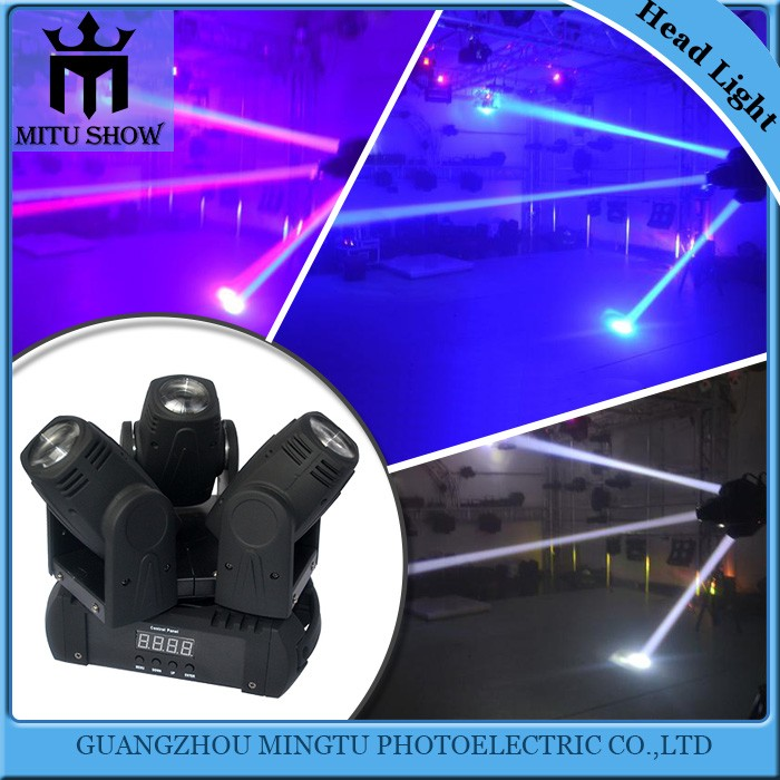 China top ten hot sale 10w 3 heads led beam moving head light party beam light