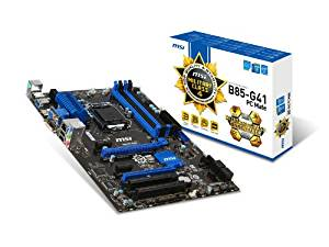 MSI Intel B85 LGA 1150 DDR3 USB 3.1 ATX Motherboard (B85-G41 PC Mate)