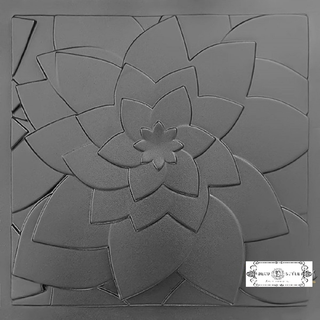 Lotus Plastic Molds For 3 D Panels Plaster Wall Stone Form 3D Decor Wall Panels Art Decor Decorative Wall Tile Panels