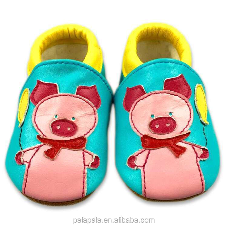 wholesale cartoon pig designs soft sole toddler shoes first walkers italian baby leather shoes