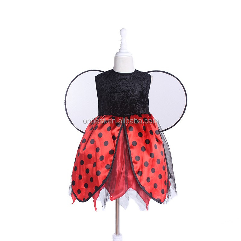 PDH2018 red dot fairy dress up set butterfly wings costume