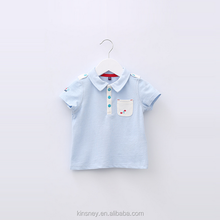 KS10121A Fancy designs baby boys breathable cotton polo t-shirt