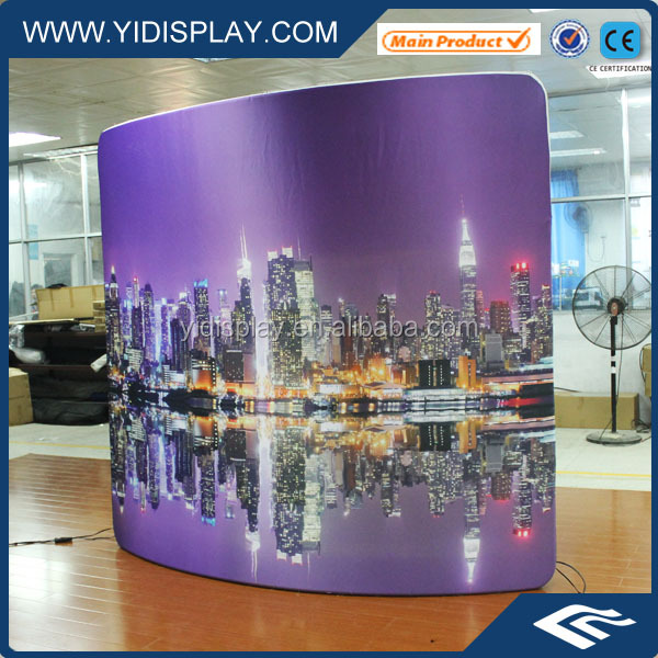 Outdoor sign backlit panel with large size fabric screen