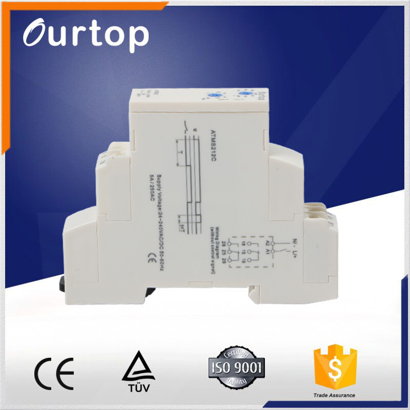 Electrical Three Phase Time Relay Adjustment DC to AC
