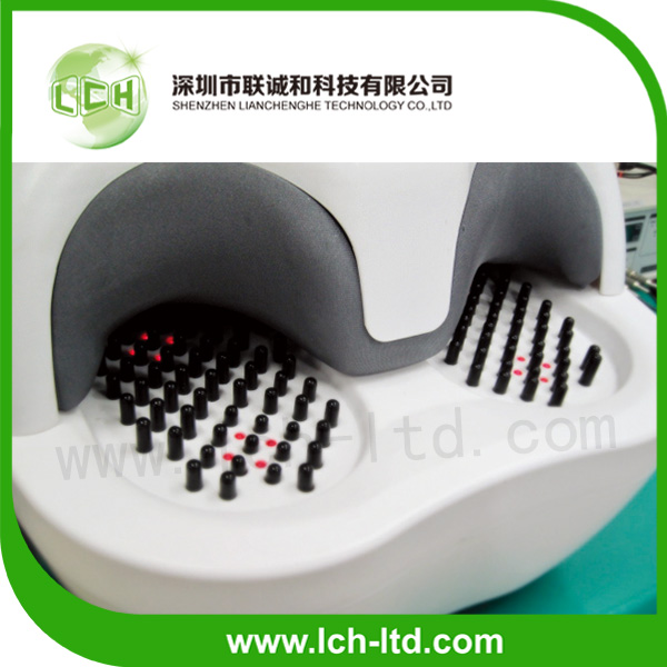 2014 New Top selling reflexology acupuncture shiatsu infrared heating foot sole massager factory health care