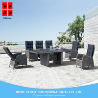 2017 Luxury poly rattan outdoor garden furniture china