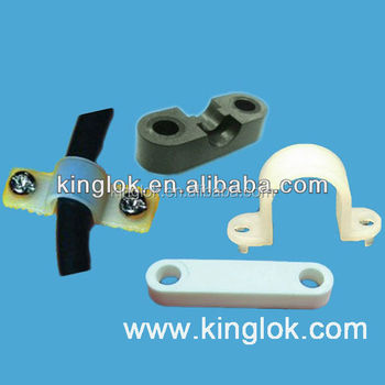 Double Screw Hole Wire Mount Cable Tie Holder Plastic Nylon Flat ...
