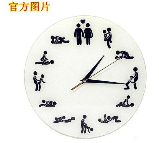 Ct-467 Creative Sex Fun Wall Clock Love Wall Clock