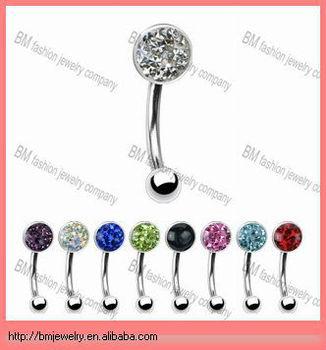 Fashion Fancy Flat Rhinestone Belly Button Rings Epoxy Crystal Body Jewelry Buy Rhinestone Belly Button Rings Fancy Belly Button Ring Belly Ring