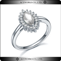 Top Fashion Zircon Ring Sterling Silver 925 Unique Micro Setting Silver Jewelry 925 Best Selling Products 2016