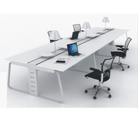 Guangdong Furniture Modern Desk Computer Office Workstation For 6 Person