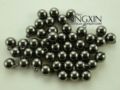 GunMetal Color Plated Round Bead with Hang more plated color and size for choose