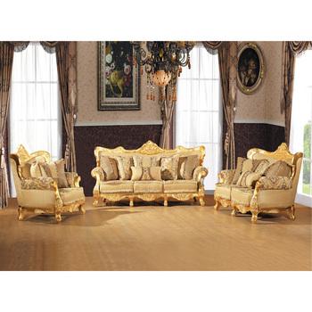 S2807 B Living Room Decoration Furniture ,luxury Furniture Sofa Set, Golden  Leaf Wooden Part 83