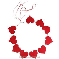 DIY Hanging Felt Red Heart Decorations for Valentines' Day