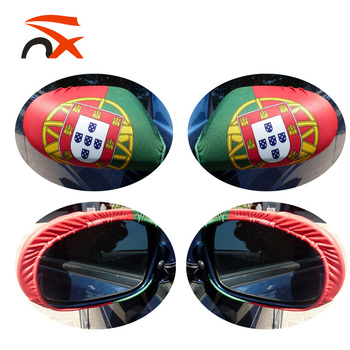 Wholesale world cup hot selling spandex portugal car mirror flag cover for football fans