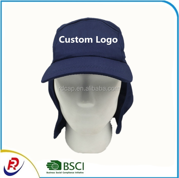 fa1c2bd44d0 Custom logo 5 panel baseball caps fishing hat with neck cover men women  outdoor activities sun protection casquette caps hats