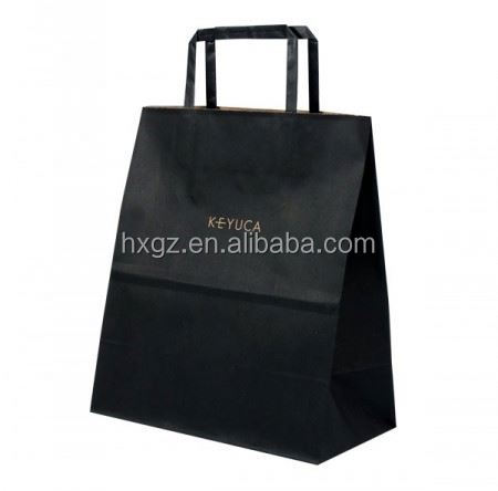 c2s paper bags plain black bags with paper made handle