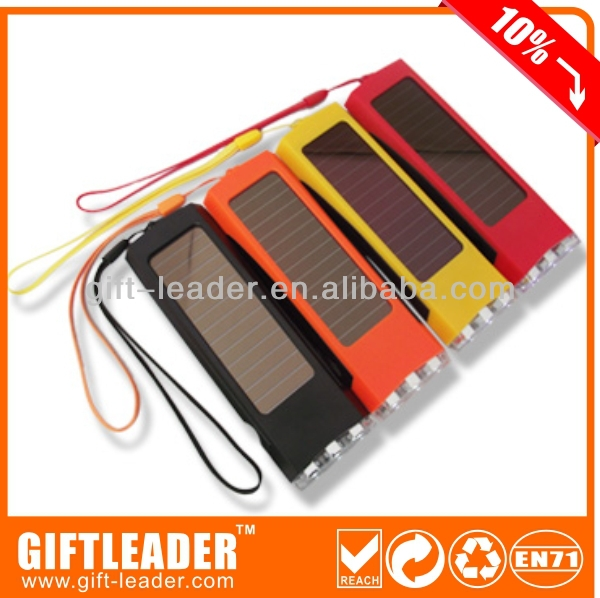 3LED square shape flashlight rechargeable solar XSSL0125