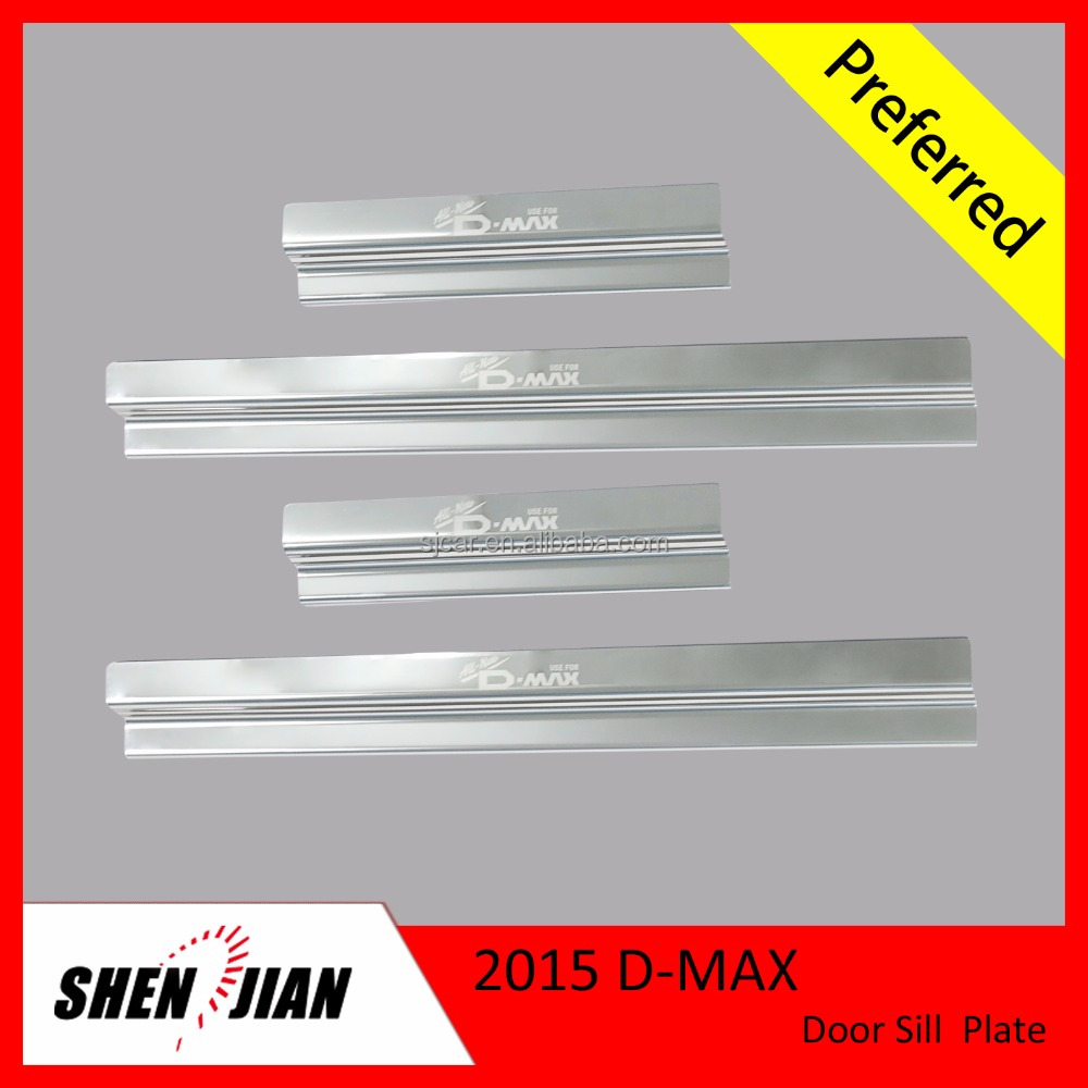 MUX Accessories Stainless Steel Car Door Sill Scuff Plate For Mux 2014 Auto Defending Parts
