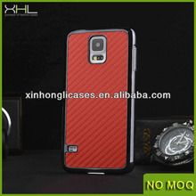 Carbon fiber case for Samsung Galaxy S5 with Plating abd Skinning