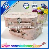 fancy portable cardboard storage box with mirror/fancy gift box