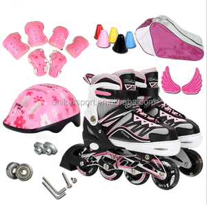 Adjustable inline skate set