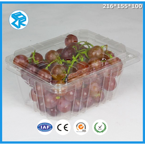 Customizable Breathable Trapezoid Grapes Container Packing Boxes