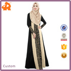 New Arrival Fashion Muslim women Long sleeve Dubai Lace Dress Maxi Abaya Islamic For Women