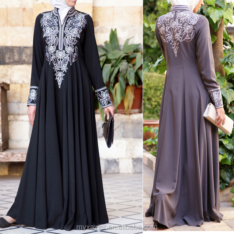 Women Embroidered Muslim Gown New Model Abaya In Dubai - Buy New ...