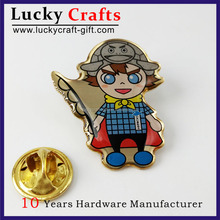 high quality custom metal die casting christmas hard enamel lapel pin