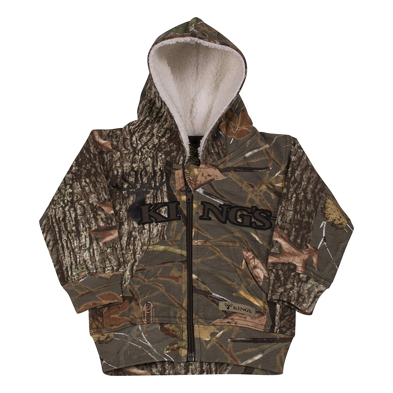 Kings Camo Infant Sherpa Zip Hoodie - Woodland Shadow Camo