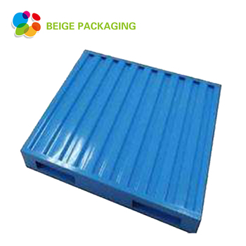 Long Life single faced 4-way stackable steel pallet