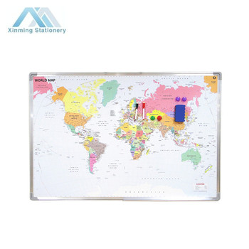 Dry Erase World Map on
