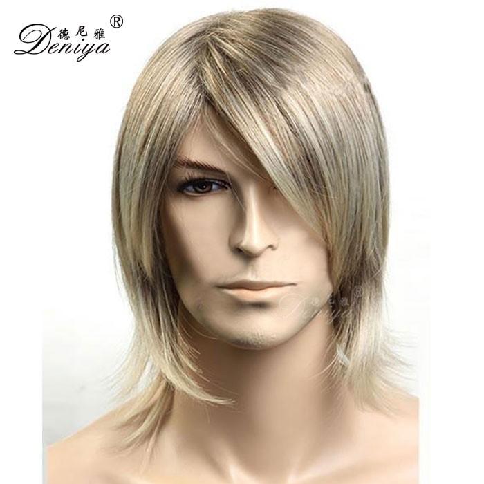 Blonde Beau Perruque Hommes Perruque De Cheveux