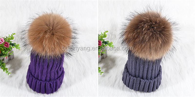 Make Your Own Winter Knitted Hat/cc Beanie Hat With Pompom/fur Pom ...