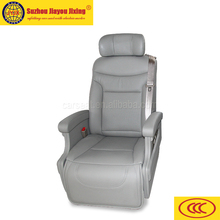 Business car seat with electric footrest