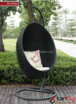 Hanging Garden Swivel Egg Pod Chair Outdoor Furniture Wicker Rattan Patio Retrohanging