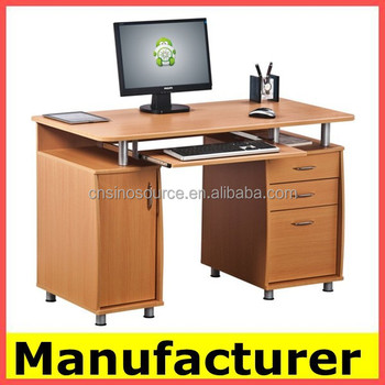 Morden Wooden Office Computer Desk Table With Wheels Product On Alibaba