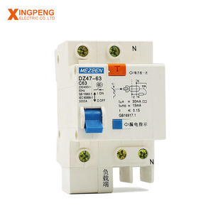 Manufactured in China DZ47LE-63 over-voltage protection circuit breaker 40a rccb elcb rcbo rcd