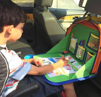 Children Folding Multifunctional Travel Car Back Seat Tray