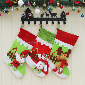 mini christmas stockings socks santa claus candy gift bag xmas tree decor festival party ornament