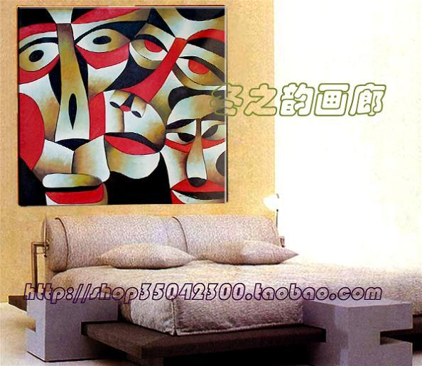 Hand painting decorative painting modern western style home decorations frameless
