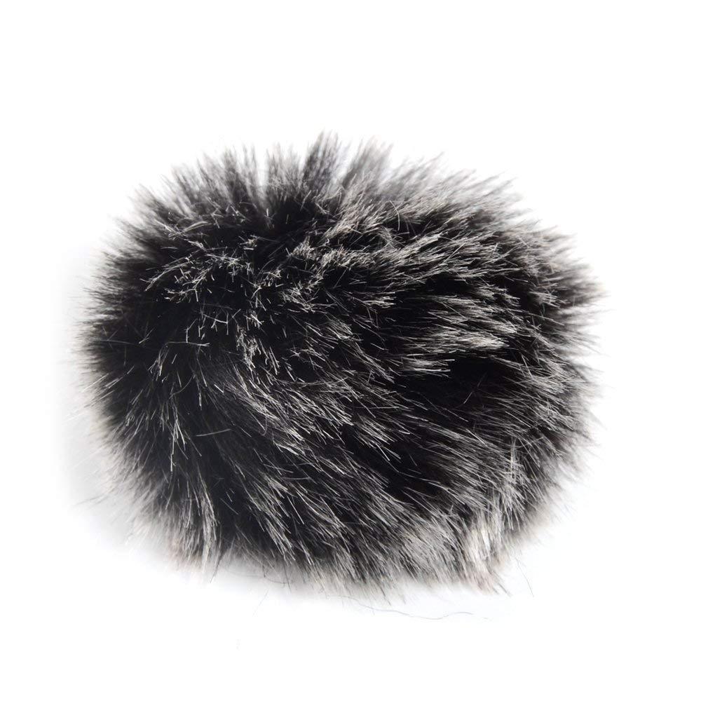 5 Pack Lapel Microphone Windscreen, Morfone Mini Size Lavalier Mic Furry Windscreen Muff/Micromuff - Black
