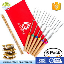 Best selling sample free extendable marshmallow sticks with custom logo