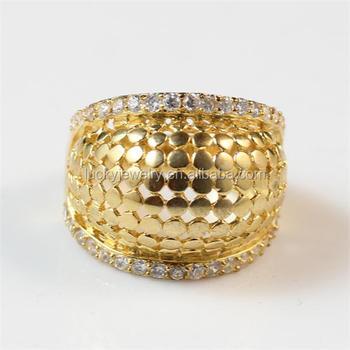 Stylish Copper 24k Gold Rings Design For Women Big Wholesale Buy