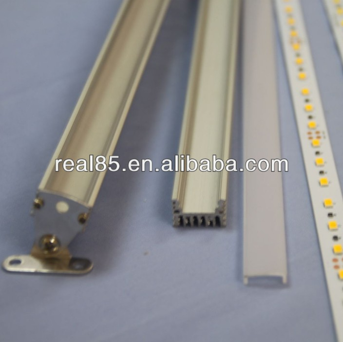 rotatable 5630 LED bar,frosted/Clear cover, end caps,LG 5630 SMD LEDs, CRI>80, 24VDC, 60 LEDs per Meter, Alu PCB,factory