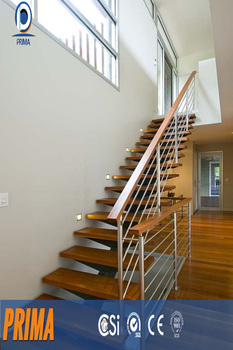 Open Staircase Design Fancy Wooden Straight Staircase